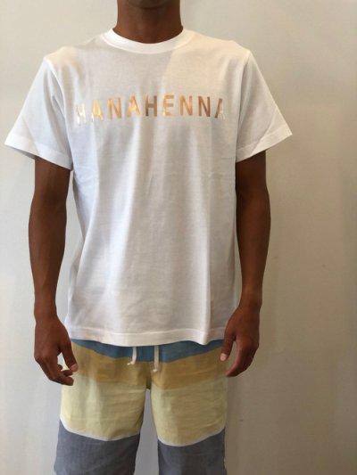 画像1: オリジナルTシャツ(ホワイトベースにゴールド文字)Mサイズ