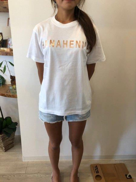 画像1: オリジナルTシャツ(ホワイトベースにゴールド文字)Sサイズ (1)